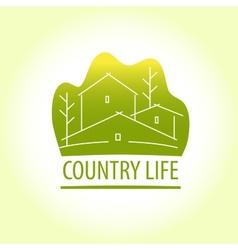 Country life Properti logo vector image