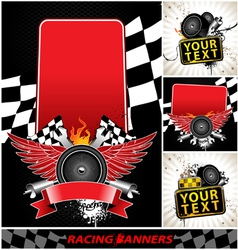 Set of racing banners vector