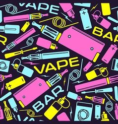 Vape bar seamless pattern vector