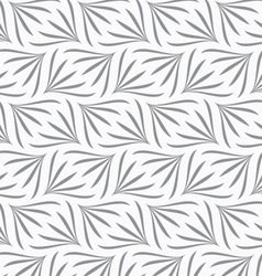 Repeating ornament gray floral with turn vector