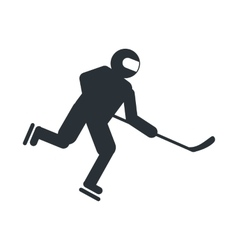 Hockey player flat icon vector