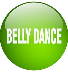 Belly dance green round gel isolated push button vector