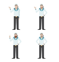 Set of sailors vector