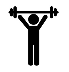 Man training workout vector