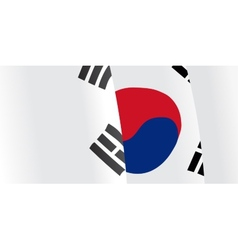 Background with waving South Korea Flag vector image
