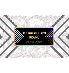 business card with abstract ornament vector image