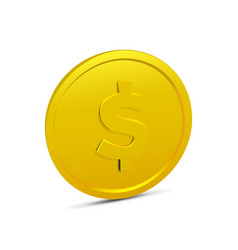 Coin isolated on white background vector
