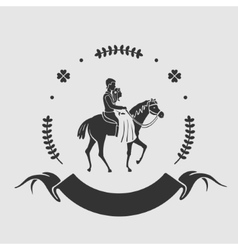 Couple rides a horse symbol vector