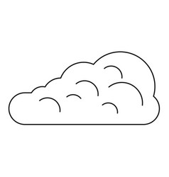 Cumulus cloud icon outline style vector