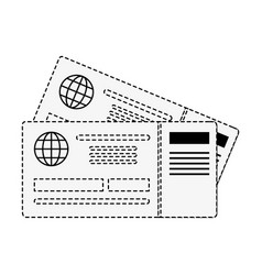 flight tickets isolated vector image