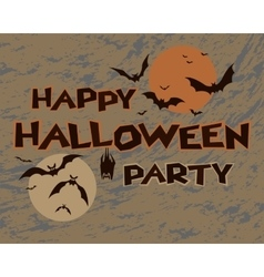 Halloween happy party design vector