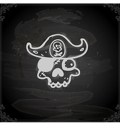 Hand Drawn Pirate Skull vector image vector image