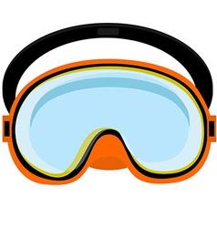 Orange diving mask vector image vector image