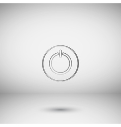Power sign icon Flat design style vector image vector image