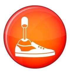Prosthetic leg icon flat style vector