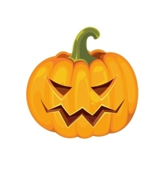 pumpkin with an evil expression on his face vector image vector image