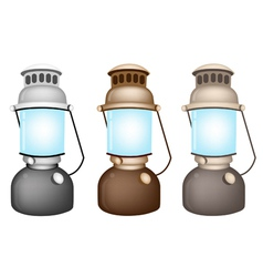 Set of Old Kerosene Lamp vector image
