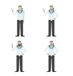 Set of Sailors vector image