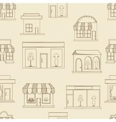 Store buildings seamless retro vector image vector image