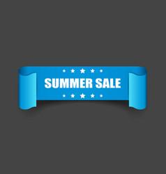 Summer sale ribbon icon discount sticker label on vector