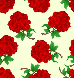 Seamless texture flowers red roses stem vector