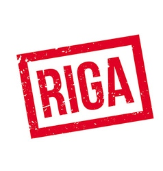 Riga rubber stamp vector