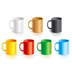 Templates mugs vector image