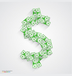 dollars flat green vector image