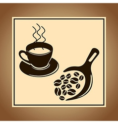 Coffee jar and beans vector image