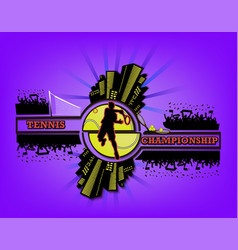 Logo tennis championship vector