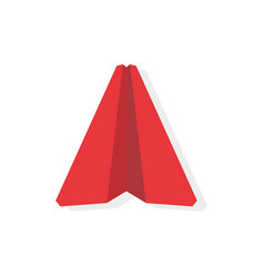 Single red paper airplane business leader vector