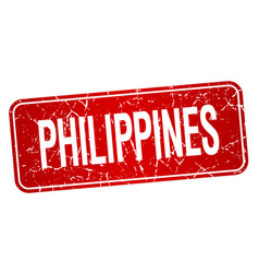 Philippines red stamp isolated on white background vector