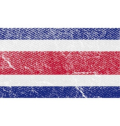 Flag of costa rica with old texture vector