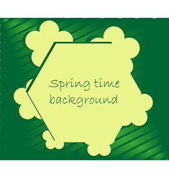 Spring season frame background vector