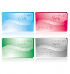 set of glossy business cards vector image