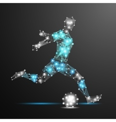 Football player polygonal vector