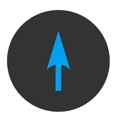 Arrow axis y flat blue and gray colors round vector