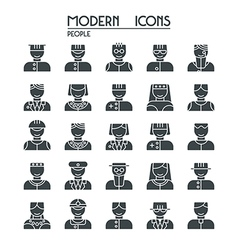 Icon set people vector