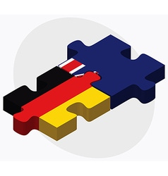 Germany and falkland islands flags vector