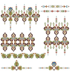 Antique ottoman turkish pattern design eighty vector