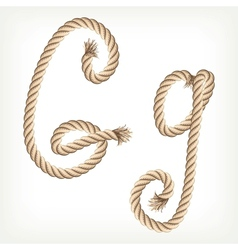 Rope alphabet Letter G vector image