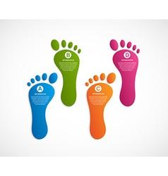 Foot modern design template infographics vector