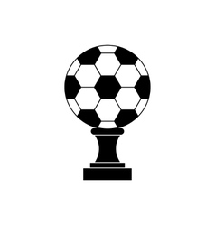 Soccer champion cup icon black simple style vector