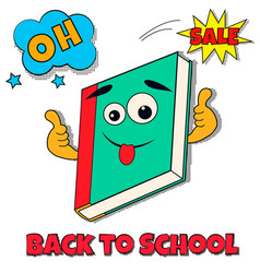 back to school bright background with pop art vector image