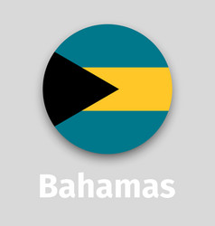 bahamas flag round icon vector image vector image