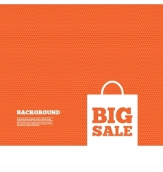 Big sale bag sign icon Special offer symbol vector image vector image