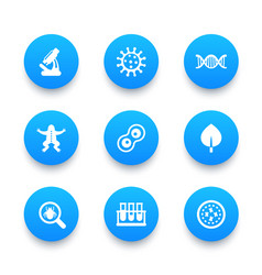 Biology icons set vector