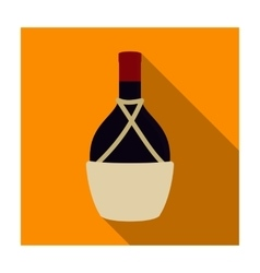Bottle of wine icon in flat style isolated on vector image vector image
