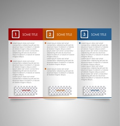 Brochure colored modern design element vector image vector image
