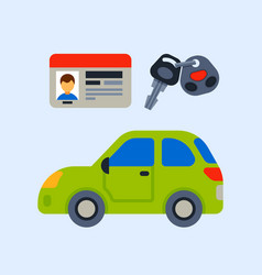 car vehicle transport driver license vector image vector image